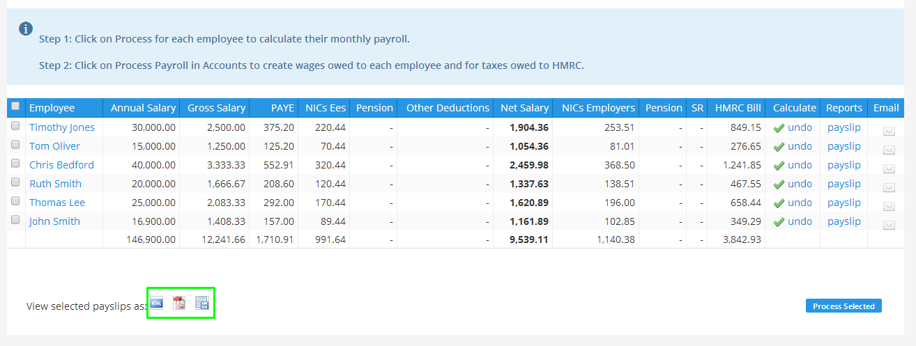 Open Payroll Feature Export your monthly payroll payslips in – Pay Roll Format